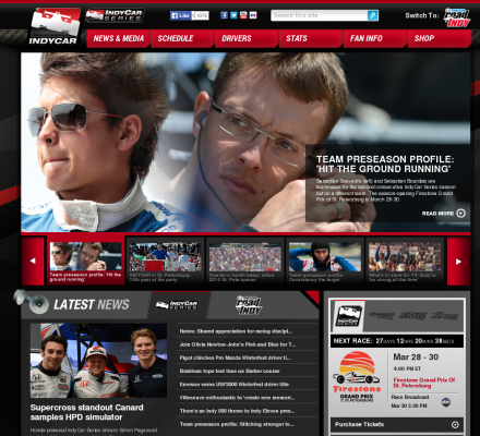 Online Source Auto Racing Nascar on Sports  Motorsports  Auto Racing  Organizations   Indy Racing Online