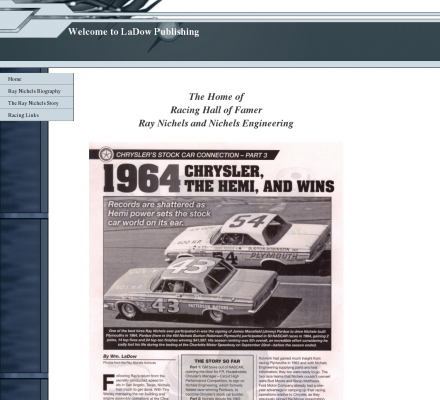 Sports Motorsports Auto Racing Drivers on Sports  Motorsports  Auto Racing  Stock Cars   The Ray Nichels Story