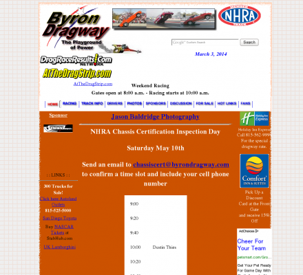 Illinois Auto Racing on Sports  Motorsports  Auto Racing  Drag Racing   Byron Dragway  This 1