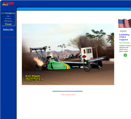 Auto Racing Consultants on Auto Racing  Drag Racing   Sand Times Magazine  Sand Drag Racing From
