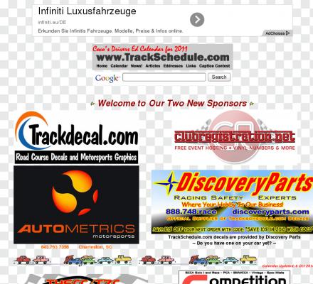 Auto Racing Links Race Tracks on Racing News  Links  Email Addresses  Race Tracks And Drivers Ed Events