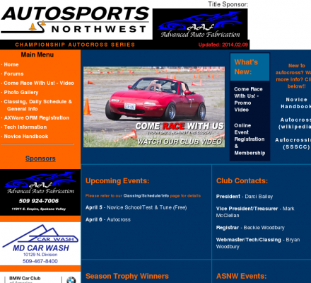 Championship Auto Racing Series on Sports  Motorsports  Auto Racing  Autocross   Autosports Northwest