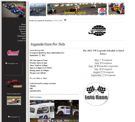 Living Legends Auto Racing on Auto Racing  Legend Cars   Northwest Legends Touring Series  Racing