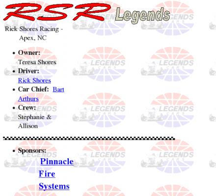 North Carolina Auto Racing on Legend Cars   Rsr Legends  Rick Shores Racing In Apex  North Carolina