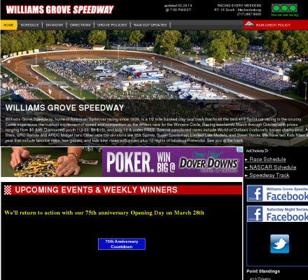 Auto Racing Links Race Tracks on Description   Sports  Motorsports  Auto Racing  Tracks   Williams