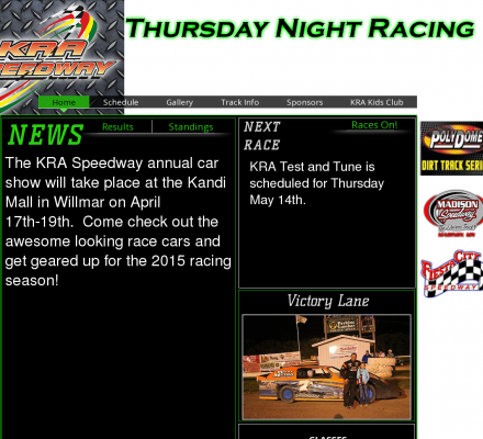 Auto Racing Wissota on Description   Sports  Motorsports  Auto Racing  Tracks   Kra Speedway