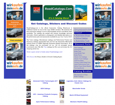 Auto Racing Publications on Catalogs For High Performance Auto Racing Parts And Auto Accessories