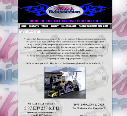 Sports Motorsports Auto Racing Monster Trucks on Shopping  Sports  Motorsports  Auto Racing   Mike S Transmissions