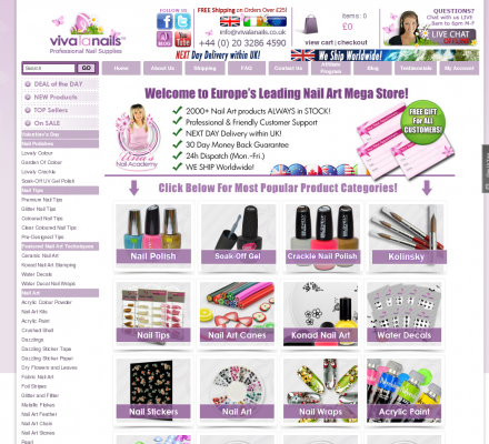 Professional nail supplies by viva la nails professional for Abc salon sire directory