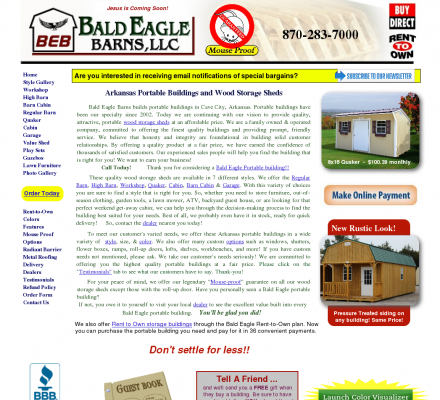 Wood Storage Sheds - Bald Eagle Barns builds portable ...