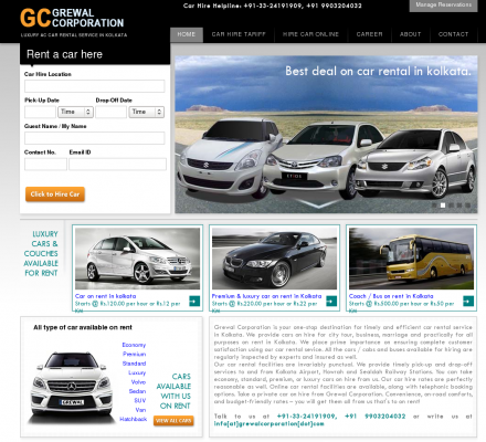 Car Hire Kolkata Car Rental Kolkata Grewalcorporation Provide