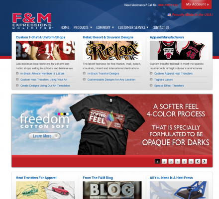 F&M Expressions, Heat Transfers - Manufactures screen printed heat