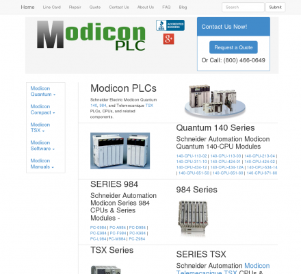 Modicon PLC  - In case no memory extension card is used with PLC