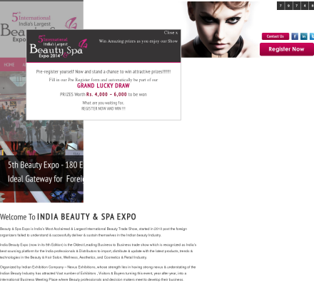 Beauty spa expo beauty spa expo is india s most for Abc salon sire directory